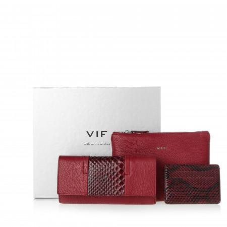 Подарочный набор VIF бордовый